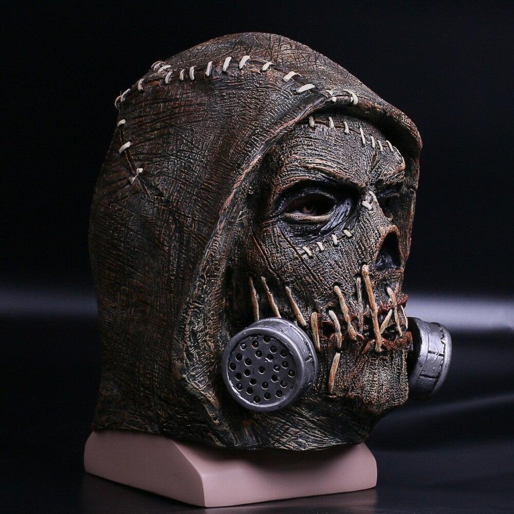 Batman Mask Suicide Squad Scarecrows Masks Dr. Jonathan Crane Mask Blocks DC Batman Superhero Mask Halloween Party Prop (13)