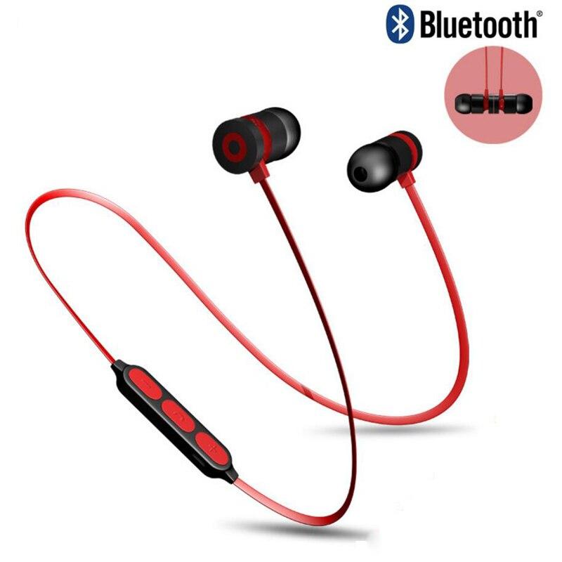 Bass Bluetooth Kopfhörer Drahtlose Kopfhörer Mit Mic Magnetische in ohr Sport Bluetooth Ohrhörer Headset Für Handy