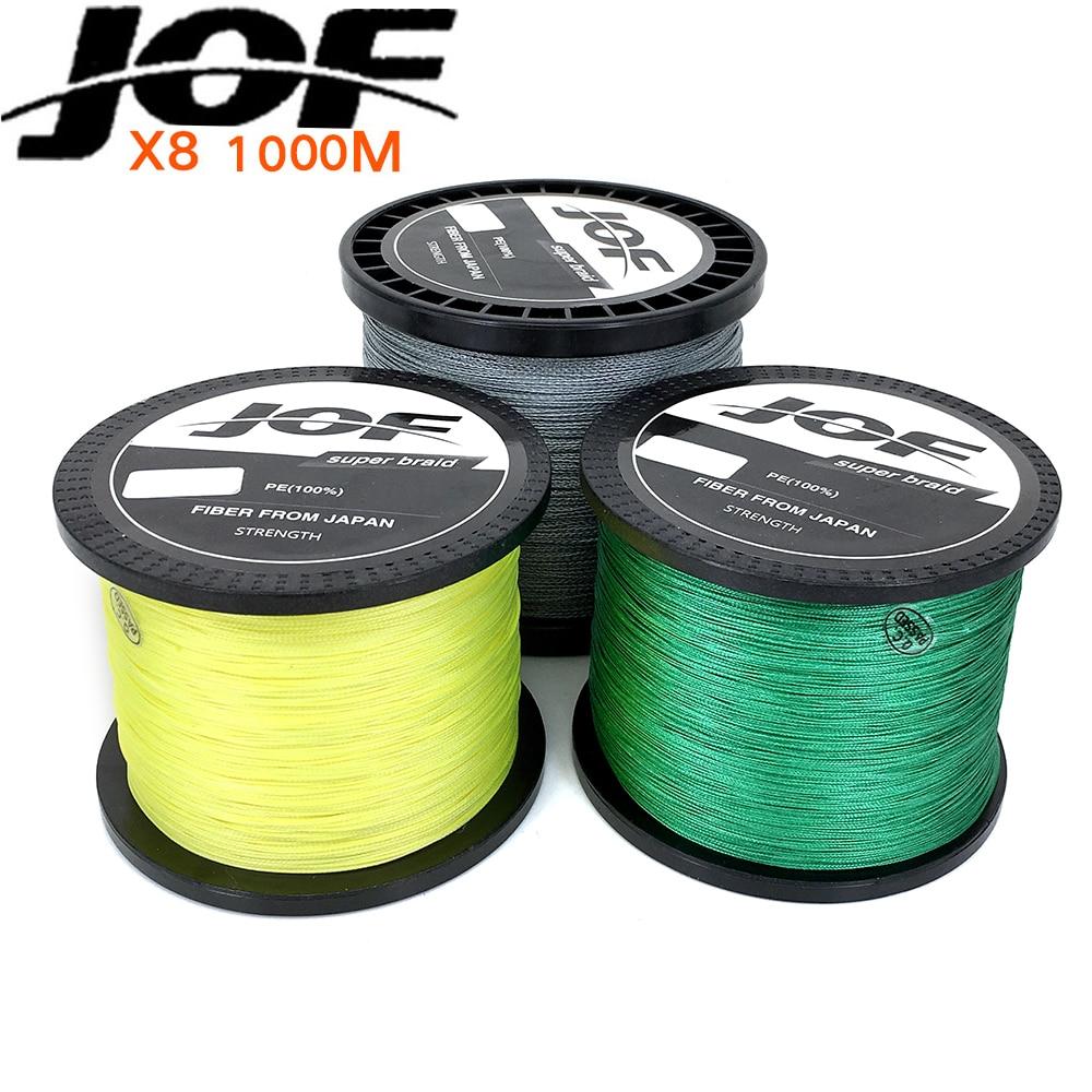 Brand 1000m 8 strand pe multifilament braided fishing line for 50 lb braided fishing line