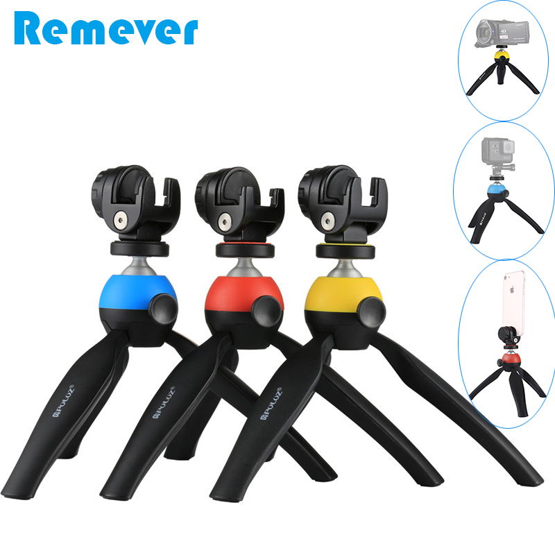 New Mini tripod with Phone holder for Iphone Xiaomi Samsung Android Phones Portable Tripod Stand for Gopro Hero DV SLR Cameras