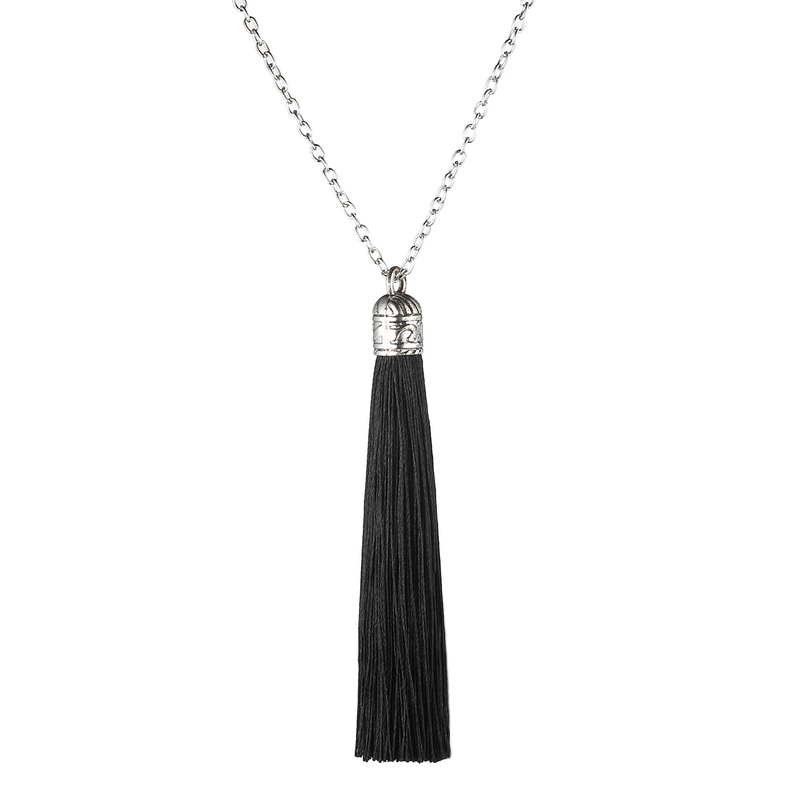 LOVBEAFAS Boho Tassel Necklace Women Ethnic Vintage Statement Fringe Bohemian Long Necklace Collier Chain 2019 Fashion Jewelry