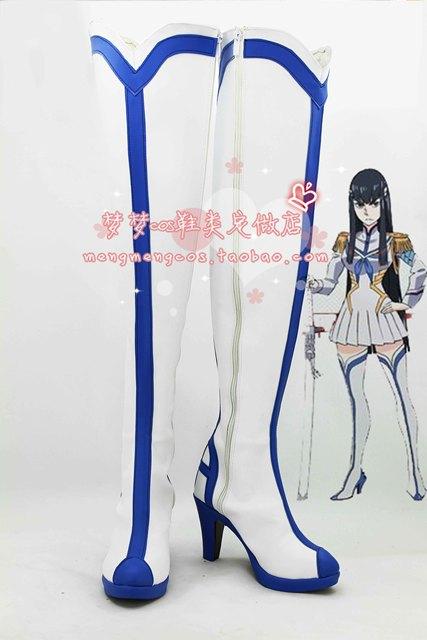 Nueva muertes la matanza Cosplay Boot Shoes Anime zapatos de tacón alto de la pantorrilla Party COS botas