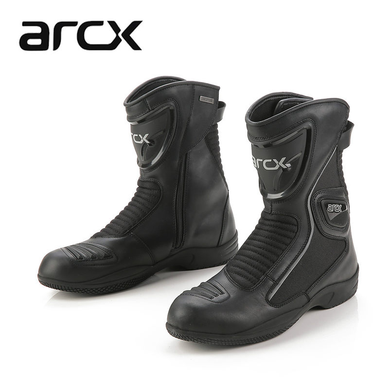 ARCX Unisex Motorcycle Waterproof Boots Leather Moto Shoes Motor Bike Scooter Motorbike Boots Leisure boot ...