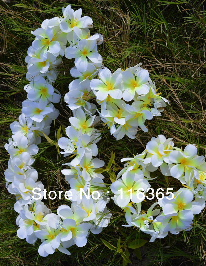 3pcsset hawaiian lei head bandhand band wedding garland hawaii 3pcsset hawaiian lei head bandhand band wedding garland hawaii plumeria flower lei free shipping in artificial dried flowers from home garden on izmirmasajfo Choice Image