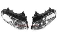 Прозрачные линзы мотоциклов Пластик спереди свет лампы чехол для HONDA Gold Wing GL1800 2001 2006 фар Корпус комплект