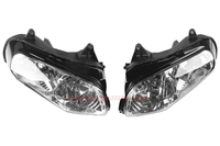 Clear Lens Motorcycle Plastic Front Light Lamp Case For Honda Gold Wing GL1800 2001 2006 Headlight Housing Set