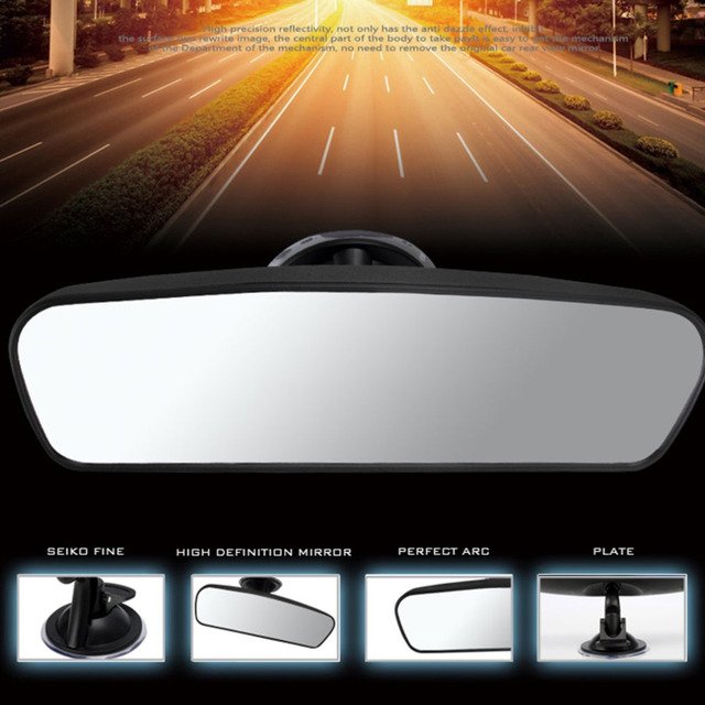 Hot Sale Car Rear Mirror Interior Rear View Mirror With PVC Sucker Wide-angle Rearview Mirror Auto Convex Curve Car-styling 2