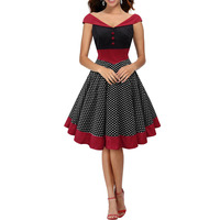 Women Vintage Retro Pinup Party Prom Swing Housewife Dress