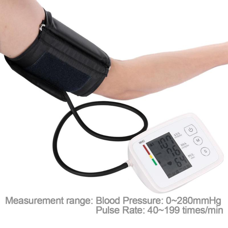 Electronic Blood Pressure Meter Arm LCD Automatic Sphygmomanometer Tester Blood Pressure Monitor Health Care Home Health Care home use blood pressure monitor health care heart monitor arm blood pressure monitor sphygmomanometer nonvoice