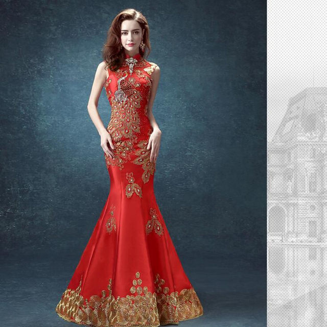 Online Shop cheongsam dress mermaid traditional chinese dress ...