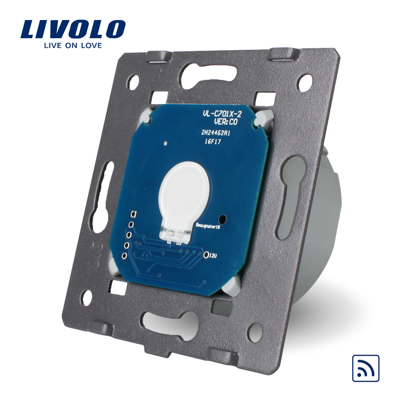 Livolo EU Standard Remote Switch Without Glass Panel, AC 220~250V Wall Light Remote&Touch Switch,VL-C701R livolo eu standard touch timer switch ac 220 250v vl c701t 32 black crystal glass panel wall light 30s time delay switch