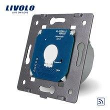 Commutateur à distance Standard de l'ue de Livolo sans panneau en verre, 220 ~ 250V à distance de lumière de mur et commutateur tactile, VL-C701R