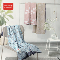 BabyCare 105x105cm Baby Blanket Cotton Baby Muslin Swaddle Bedding Quilt Newborn For Bed Sofa Basket Stroller Blanket Bath Towel