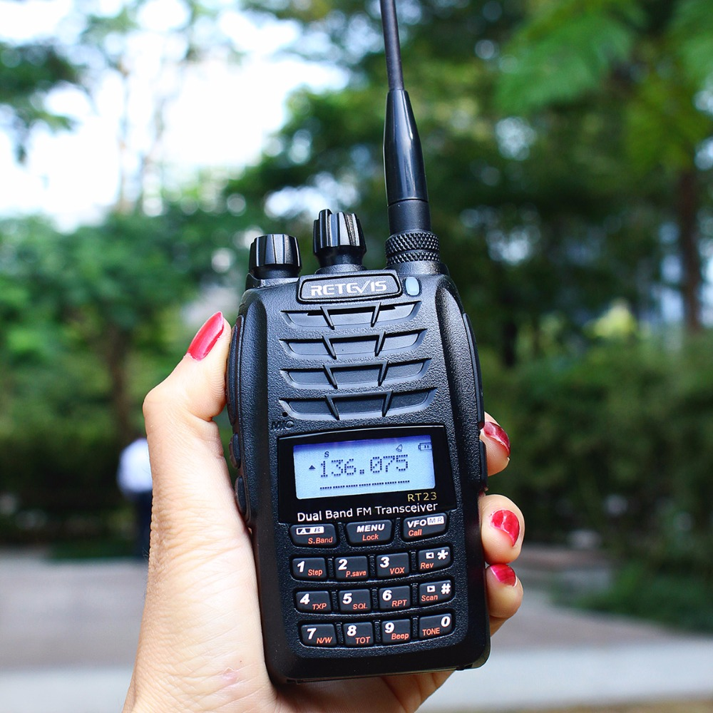 Retevis RT23 Dual Receive Walkie Talkie Dual PTT 5W 128CH VHF UHF - Voki-toki - Foto 2