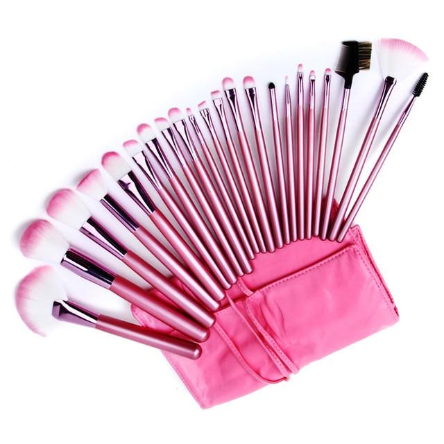 New Professional 1Set/lot 100% 22 pcs/Set Cosmetic pink Makeup Brushes&tools Set  for makeup 3020