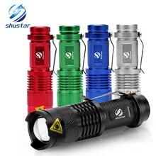 カラフルな防水 LED 懐中電灯ハイパワーミニスポットランプ 3 モデルズーム可能なキャンプ用品トーチフラッシュライト