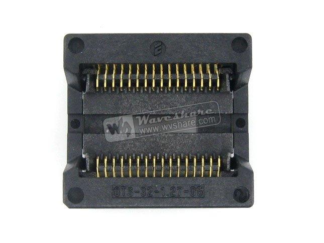 SOP32 SO32 SOIC32 OTS-32-1.27-05 Enplas IC Test Burn-In Socket Programming Adapter 9.53mm Width 1.27mm Pitch
