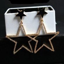 EH280 pentagrama estrella de mar Nuevo 2016 joyas pendientes brincos boucles d'oreilles bijoux bijouterie stud pendientes para las mujeres