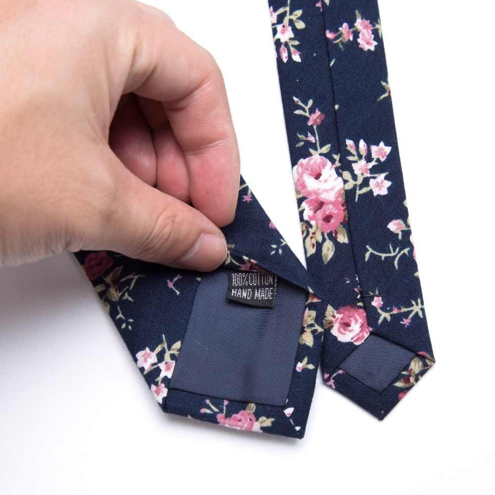 XGVOKH 綿 100% ネクタイプリントネクタイ男性ファッション古典的な 6 センチメートルスリムネクタイ花ウェディングパーティービジネスネクタイボウタイ