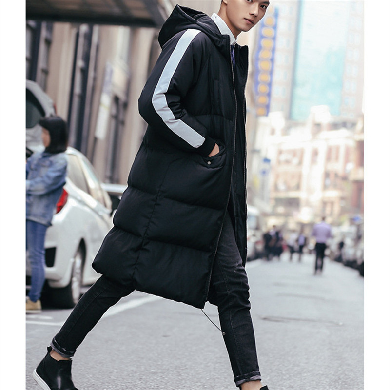 New fashion winter long jacket men women warm waterproof brand clothing male autumn coat quality black white blue down   Parkas