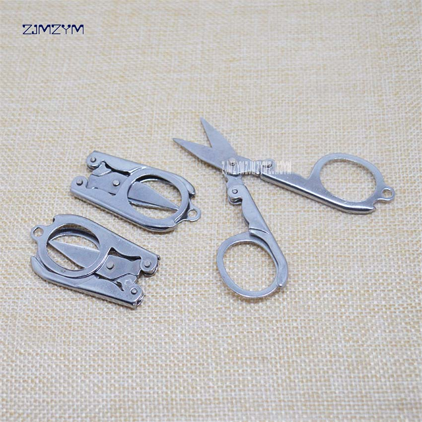 1 Stück Heißer Verkauf Hause Tragbare Falten Edelstahl Schere Mini Folding Travel Schere Farbe Silber 4,5*2,2 Cm Farben Sind AuffäLlig