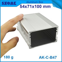 4pcs/lot high quality aluminum enclosure silver junction housing for LED control 54*71*100mm