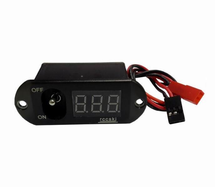 rccskj 2108 Large current switch with LED voltmeter 4-13V build in ubec regulator 2108 2115