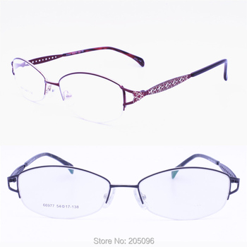 469e90a58011 66977 oval shape halfrim metal with luxury carving flower colorful pattern  progressive prescription trendy glasses for