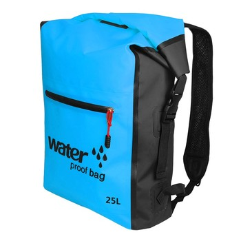 25L Portable Sport Waterproof Dry Bag Sack Swim Storage Rafting Boating Kayaking Canoeing Camping Travel Kits Drift Floating Bag - Blue