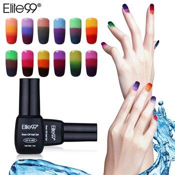 Elite99 Temperatur Veränderbar Farbe Nagel Gel 7 ml Tränken Weg Thermische Ändern Gel Lack Semi Permanent UV LED Nagellack
