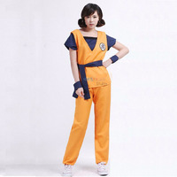 Dragon Ball Z Cosplay For Adult Girls Orange Top With Pants Japanese Anime Cosplay Party Women Son Goku Costume