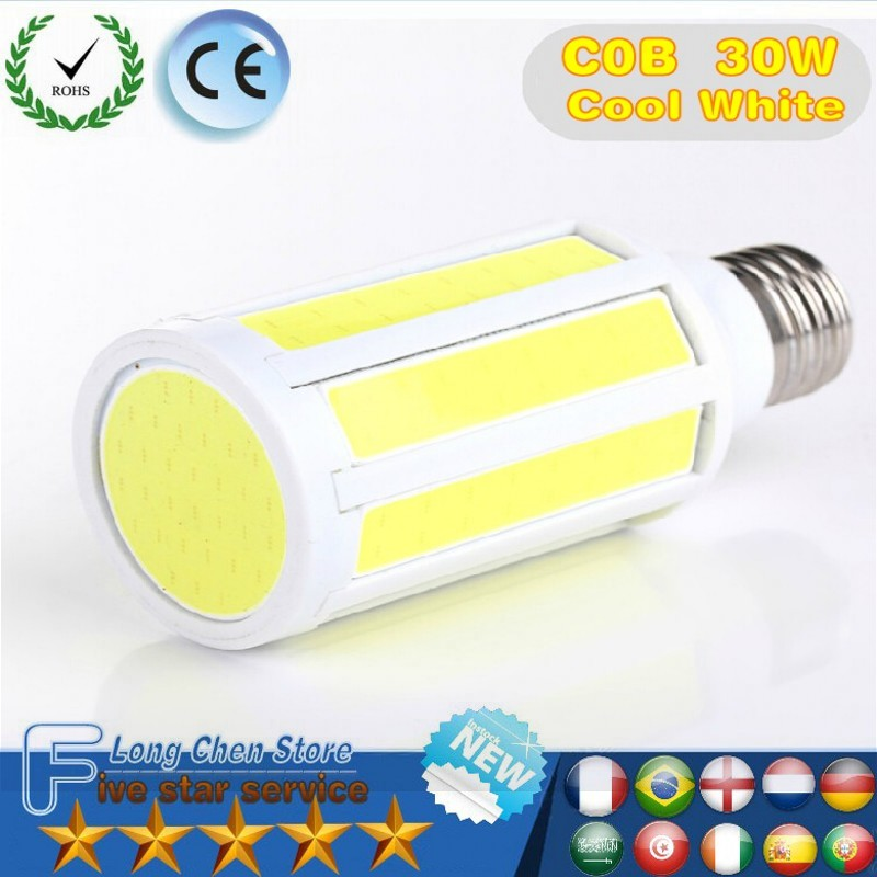 30W 15W Super Bright E27 COB Led Corn Light Bulb white/warm white lamp 108LEDs 188LEDs 330LEDs AC 110V/220V 360 Degree Spotlight youoklight yk0751 e27 220lm 3500k 3 led warm white light spotlight silver ac 90 265v