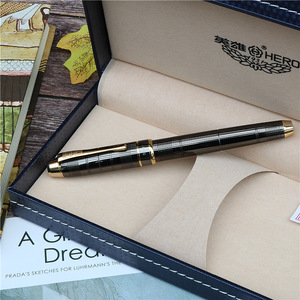 Image 3 - fountain pen Fashion new style Dark grey ink pen Office and learning luxury writing metal pen