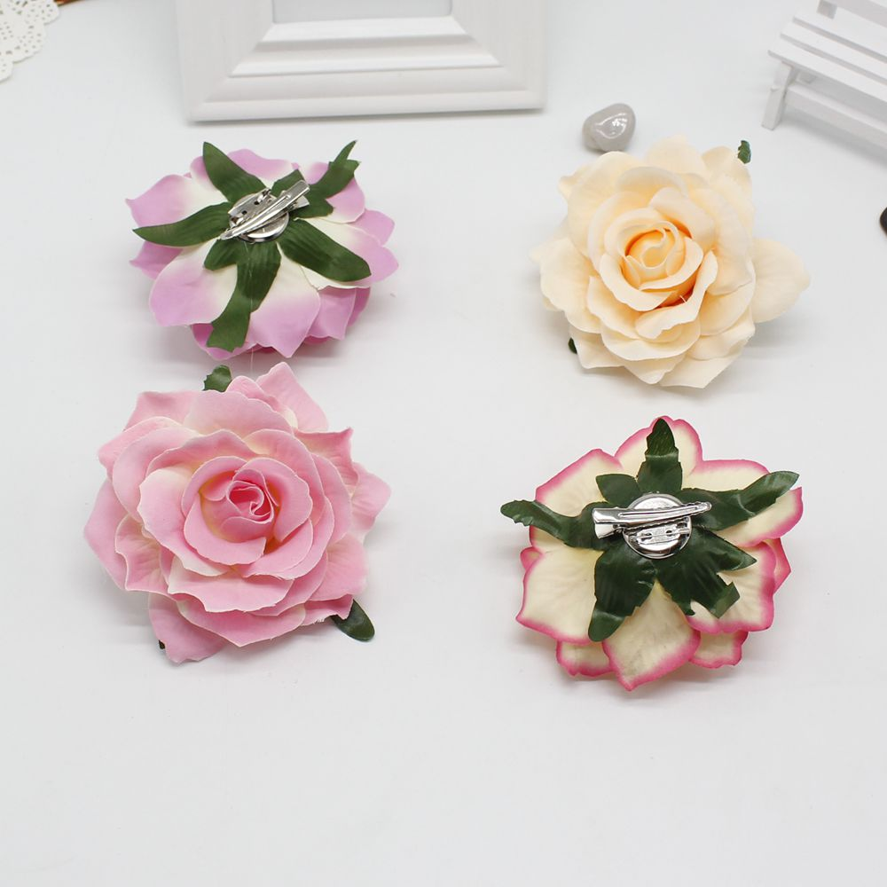high quality pcs new flocking red roses floral hairpin DIY hair ornaments