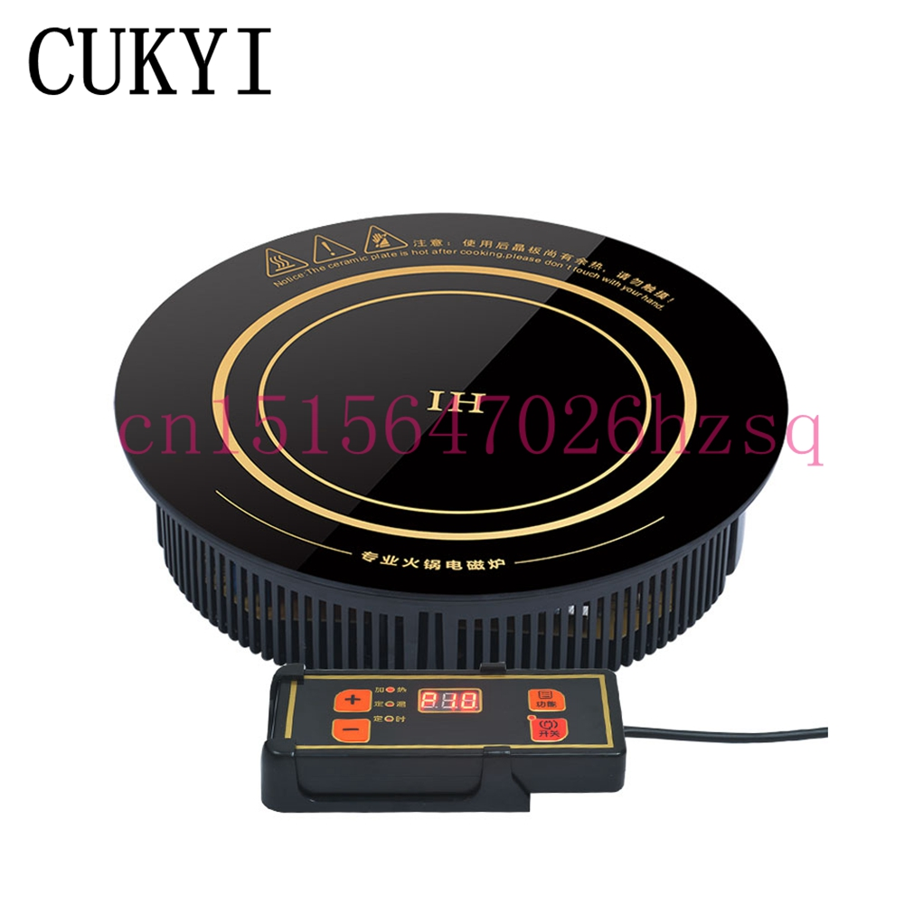 ᑎ‰Cukyi inducción olla caliente incrustado alambre redondo Hot Pot ...
