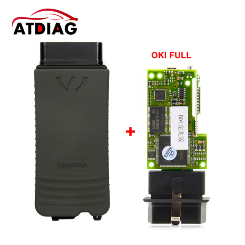 VAS 5054A Full Chip OKI AMB2300 UDS ODIS v4.13 OBD2 Bluetooth Adapter VAS5054A VAS5054 5054 Auto Diagnostic Scanner high quality vas5054a with oki full chip car diagnostic tool support uds protocol vas 5054a odis v4 13 bluetooth for audi for vw