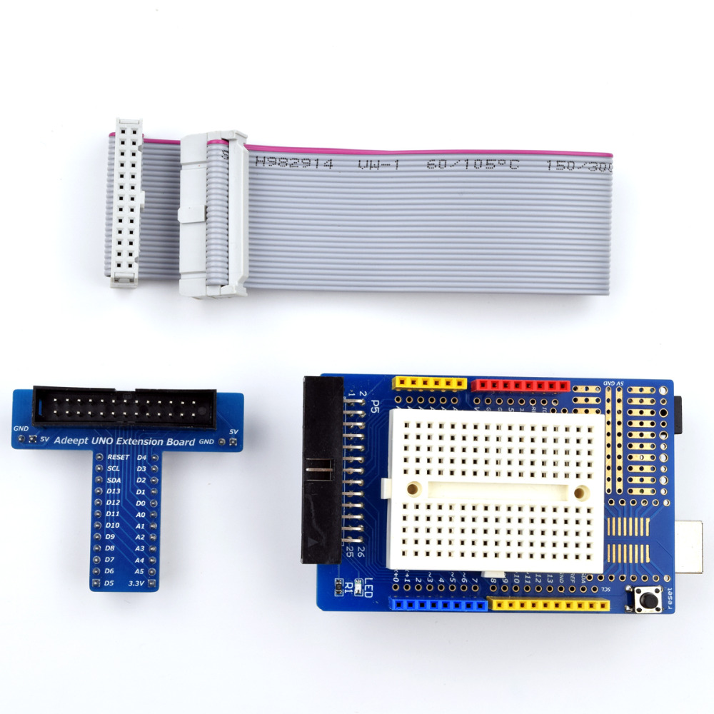 Adeept New Arduino Prototyping Prototyp Shield With Mini Breadboard + Extension Board Freeshipping diy diykit