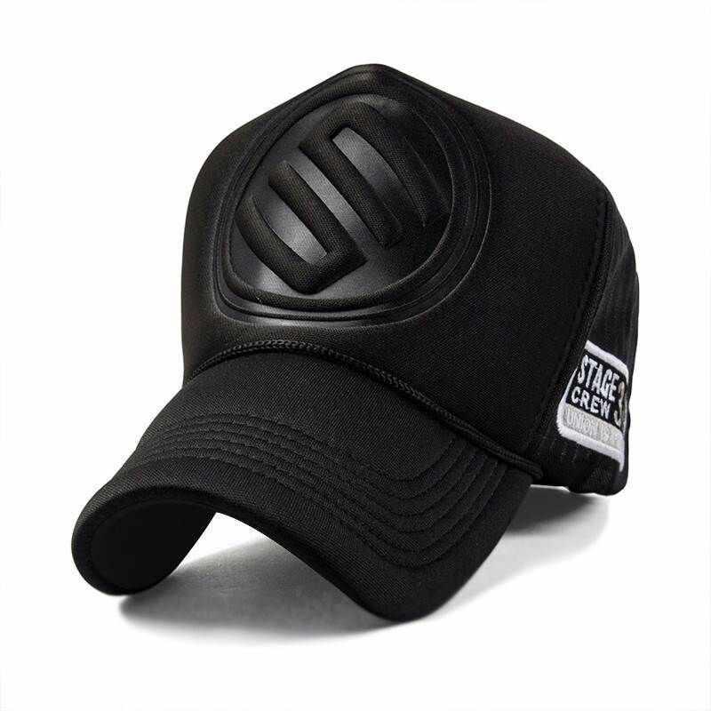 Adult Summer Mesh Trucker Caps Men Hip hop Punk Rock Snapback Hat Big Head  Man Plus Size Baseball Cap 55-60cm 60-63cm