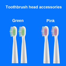 Motor-driven Electric Toothbrush Parts Head Green / Powder Two Color Optional Oral Hygiene Teeth Whitening