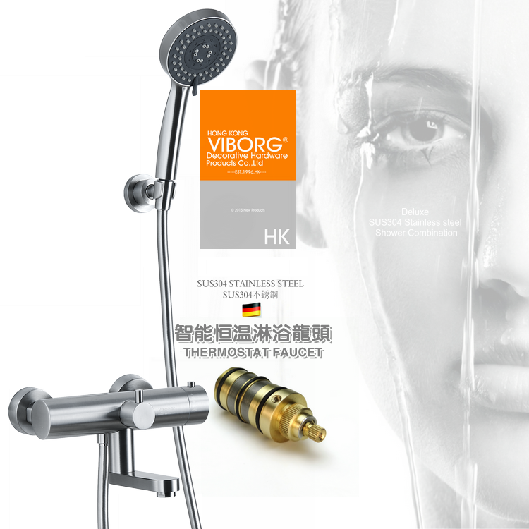 304Stainless Steel Thermostatic Shower Faucet Hot and Cold Water Mixer Constant Temperature Control Mixing Water Valve Mixer Set 3 tap connect 3 4 5 gear screw thread thermostatic faucet valve shower room mixing valve cold and hot water switch separator