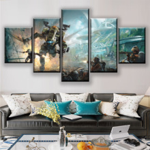 5 Pieces Wall Art Modular Picture On Canvas Printing Game Titanfall 2 Painting Home Decorative Framework Living Room Posters titanfall 2