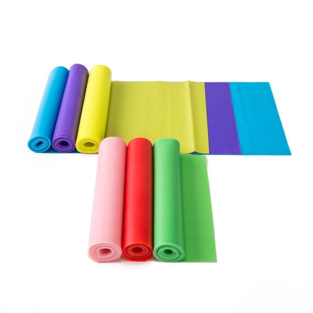 1.5m z naturalnej gumy ćwiczeń opaska sportowa Pilates odporność na rozciąganie zespół szkolenia joga elastyczne ćwiczenia Fitness gumowe
