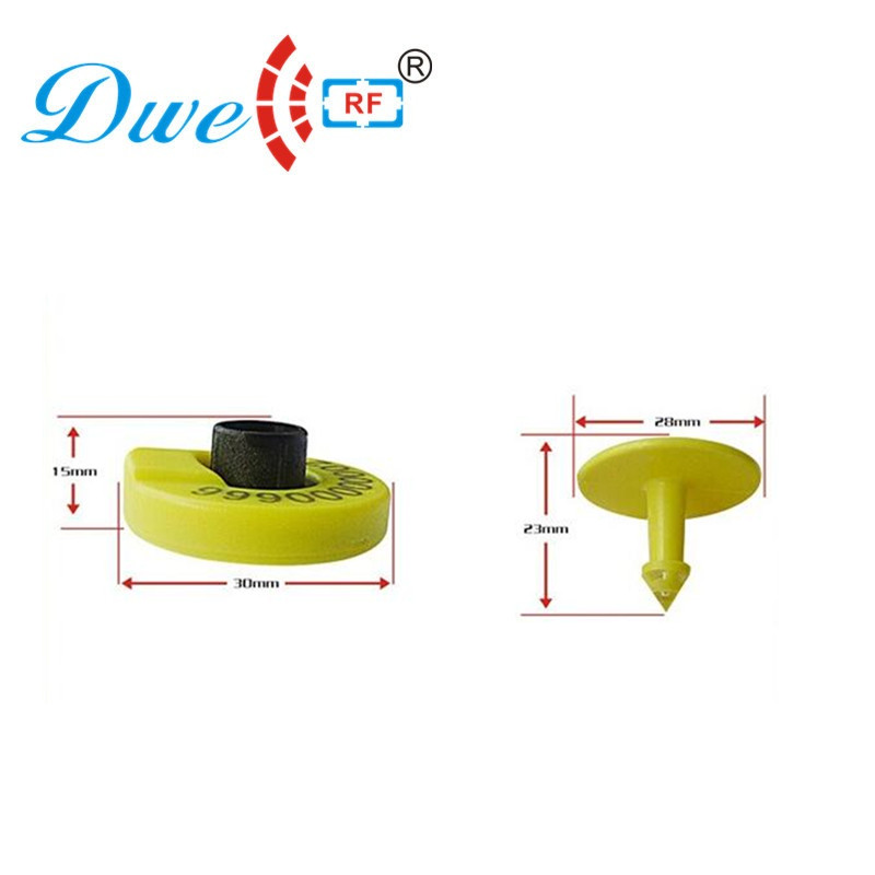 DWE CC RF 100PCS/lot  134.2khz 11784 11785 Long Range Rf Cattle Id Ear Tag Hdx Pet Rfid Chips Rfid Animal  Chip Dier