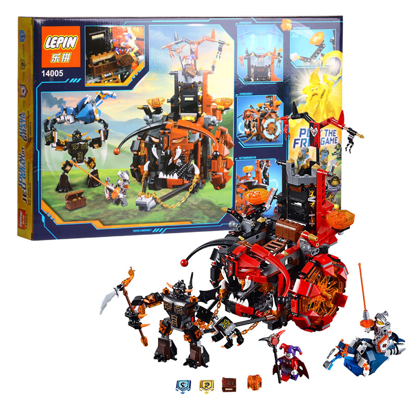 67LEPIN 14005 Nexo Knights Jestro's Evil Mobile Combination Marvel Building Blocks Kits Toys Compatible 70316