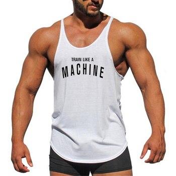 Mens gyms stringer tank top fitness vest canotta bodybuilding clothing muscle tanks singlet cotton workout Sleeveless shirt 4