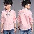 2016 Осень детская одежда блузки мальчиков рубашки моды стиль высокого качества мальчик одежда A474