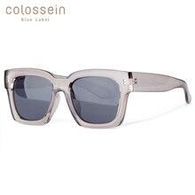 COLOSSEIN модные солнцезащитные очки Женские большие квадратные рамки очки летние очки тренд для мужчин