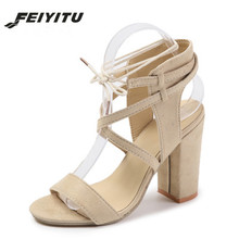 FeiYiTu Women Sandals Summer Sexy High Heels Sandals Women Shoes 10cm Heels Sandals Gladiator Opean Toe Women Shoes Eu 34-43 sexy women heeled sandals summer shoes women gladiator sandals open toe women shoes high heels wedding female shoes plus size de