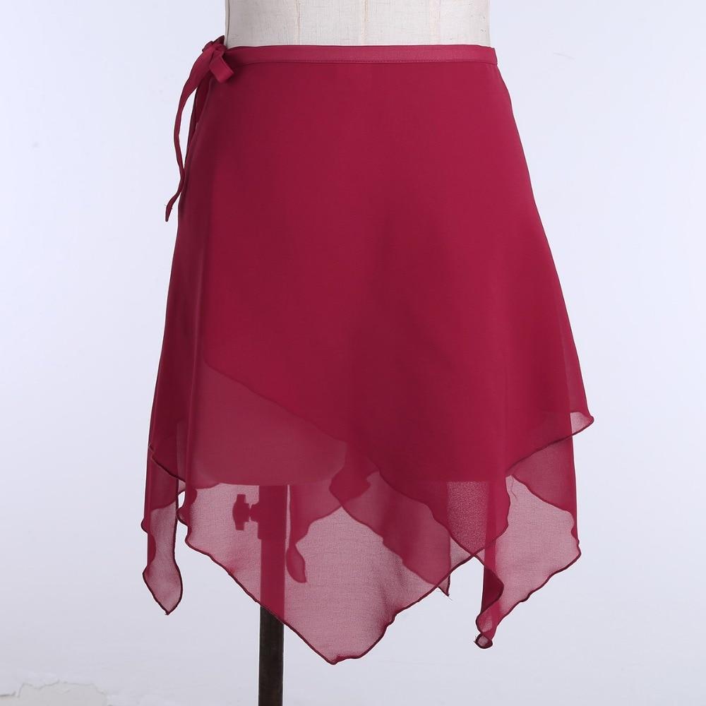 ACSUSS Women Adult Chiffon Ballet Wrap Over Scarf Dance Skirt with Tie Waist