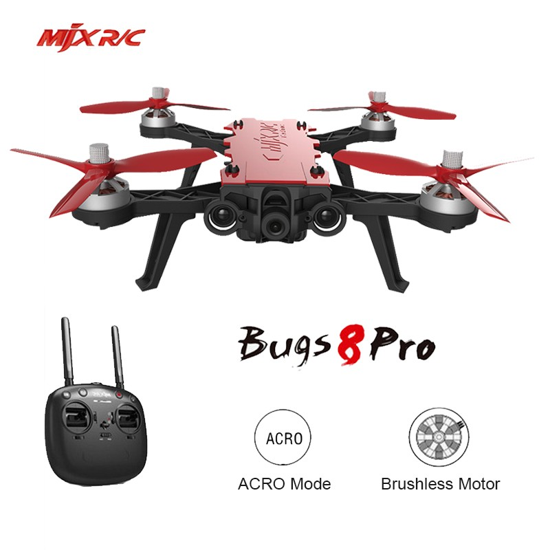 MJX B8 Pro Bugs 8 Pro RC Drone with Brushless Motor 5.8G 720P Camera Acro Mode Switch High Speed RC Racing Drone VS H502S